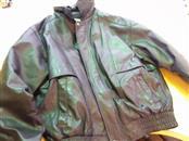 CHARLES KLEIN Coat/Jacket BLACK LEATHER JACKET